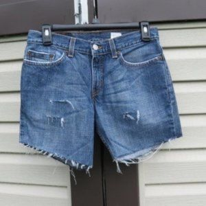 Vintage Levi's 518 Distressed Cutoffs USA Made
